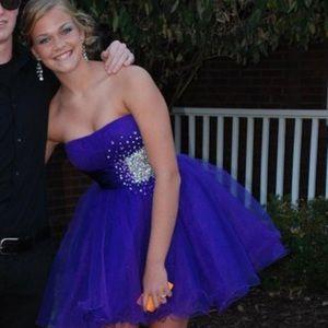 Sherri Hill Purple Dress with Jewels